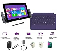 "Microsoft Surface Pro 2 Core i5-4200U 4G 128GB 10.6"" touch screen 1920x1080 Full HD Wacom Pen Windows 8 Pro Multi-position Kickstand by Microsoft"
