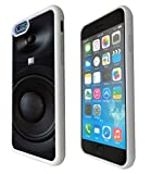 iphone 6 47 Dj Speaker Cool Music Clubbing Funky Design Fashion Trend Silicone Gel Rubber CASE COVER White Black Clear Select your Frame Colour from the  box Below White