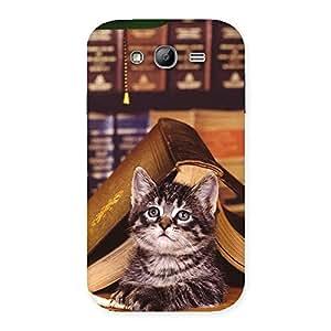 Cute Cat Book Back Case Cover for Galaxy Grand Neo Plus