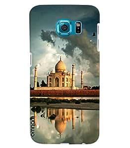 Omnam World First Wonder The Taj Mahal Printed Designer Back Cover Case For Samsung Galaxy S6 EDGE