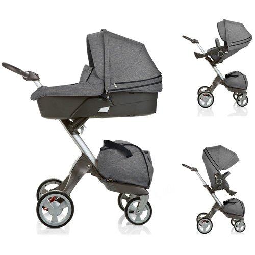 Stokke Xplory Newborn Stroller In Black Melange front-856810