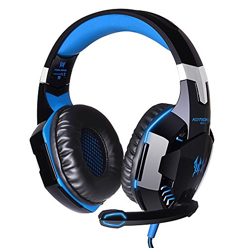 Jodin KOTION EACH G2000 Over-ear Game Gaming Headphone Headset Earphone Headband with Mic Stereo Bass LED Light for PC Game