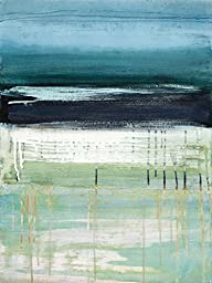 18W x 24H Sea and Sky I by Heather Mcalpine - Stretched Canvas w/ BRUSHSTROKES