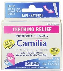 Boiron Camilia Teething Relief, 15 Count,0.34 fl oz