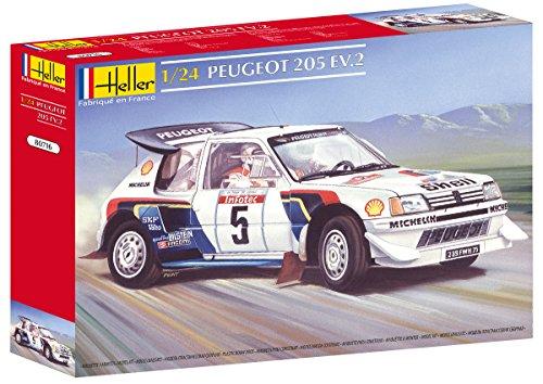 heller-80716-modellino-da-costruire-auto-peugeot-205-ev-2-scala-124-importato-da-francia