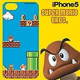 HASE-PRO スーパーマリオブラザーズ iPhone5 専用 DECORE WEAR for iPhone5 ハードカバー スーパーマリオブラザーズ01 マリオ5H