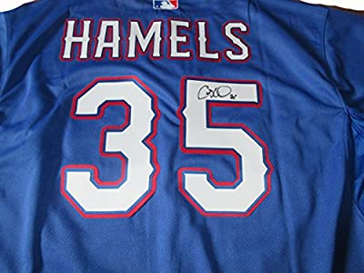 Cole Hamels Signed Texas Rangers Jersey W/PROOF, Picture of Cole Signing For Us, Texas Rangers, Philadelphia Phillies, World Series Champ, All Star