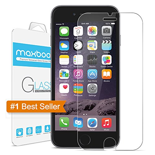 iphone 6 screen protector maxboost tempered glass 0. Black Bedroom Furniture Sets. Home Design Ideas