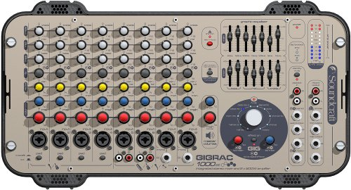 GigRac 1000 Professional 8 Channel Powered Mixer