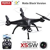 Cheerwing® Syma X5SW FPV Explorers2 2.4Ghz 4CH 6-Axis Gyro RC Headless Quadcopter Drone UFO with 2MP HD Wifi Camera (Matte Black)