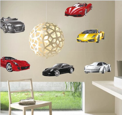 Cool Luxury Sports Cars Collection - Action, Excitement, and Energy Peel and Stick Wall Decals