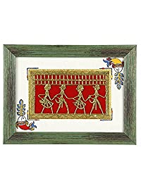 VarEesha Textured Green Dhokra Wall Hanging- For Home Decor/ Wall Decor/ Wall Hangings/ Gift Items