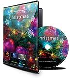 DVD de Noël avec neige qui tombe / Lumières de Noël / Cheminée et feux d'artifice