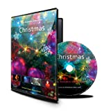 Christmas DVD with Falling Snow / Christmas Lights / Fireplace and Fireworks