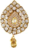 SPE Indian Ethanics Gold Metal Brooch for Women (SPE-SB-01)
