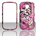 Pink Dazzling Butterfly 2D Rubberized Design for Samsung Galaxy Proclaim S720C Illusion i110 Cell Phone Snap-On Hard Protective Case Cover Skin Faceplates Protector