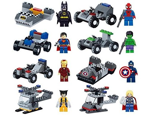 Marvel DC Building Toy Action Mini Figure Super Heroes with Vehicle Compatible With Lego 16 pcs # mdc028