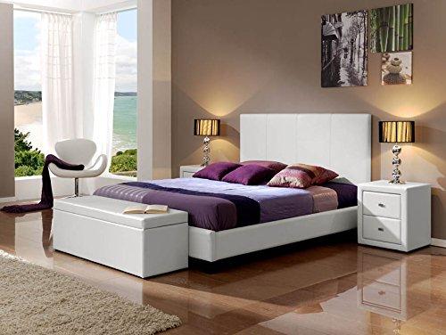 Cama (tapizada) SONIA 635 blanco para colchón de 150x190 cm.