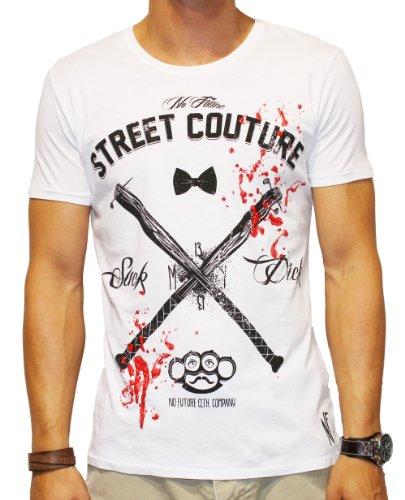 NO FUTURE -  T-shirt - Camicia - Maniche corte - Uomo bianco X-Large