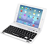 TeckNet® X363 Ultra-Thin Apple iPad Air 2nd Bluetooth Keyboard Case Cover with Built-in Stand Groove for Apple iPad Air 2nd Generation With 110 Degree Swivel Rotating - Silver