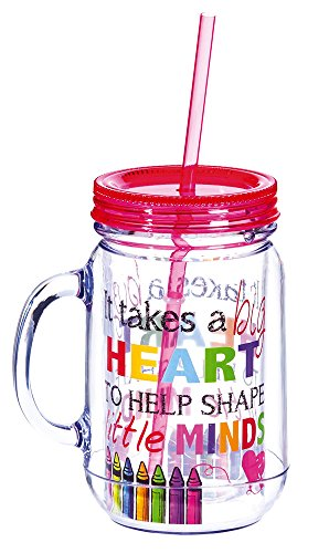 It Takes a Big Heart Double-Walled Acrylic Mason Jar Beverage Holder