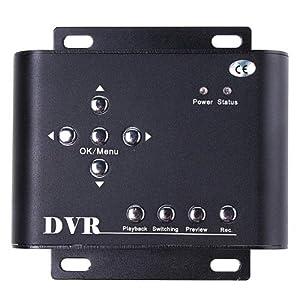 TOMTOP 2CH Car Security Mini DVR SD Video/Audio CCTV Recorder