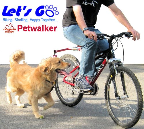Buy Low Price Lets Go Pet Walker, Hands Free Bicycle Dog Leash for Medium / Large Dog. 4 Colors, Gold, Purple, Blue, Red (B006QMYZPM)