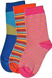 Balenzia Pack of 3 Kids Socks- 2-4 Years