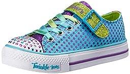 Skechers Kids 10260L Shuffles Mysticals Sneaker,Turquoise/Purple,12 M US Little Kid