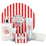 Cath Kidston Blossom Gift Set In Hat Box Hand Lotion, Soap, Hand Cream, Hand Scrub & Flannel