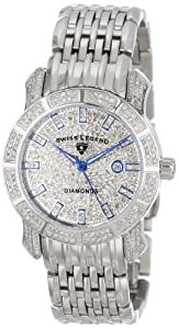 Swiss Legend Women's SL-23024F Marquise Collection Diamond Stainless Steel Watch