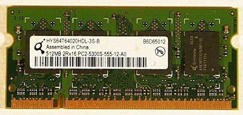 Hynix 512MB DDR2 PC2-5300U-555-12 Notebook ID9221