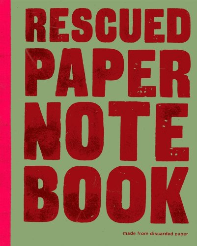Image of Rescued paper notebook - large - green