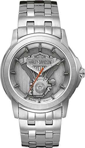 harley-davidson-mens-quartz-watch-with-grey-dial-analogue-display-and-silver-stainless-steel-bracele