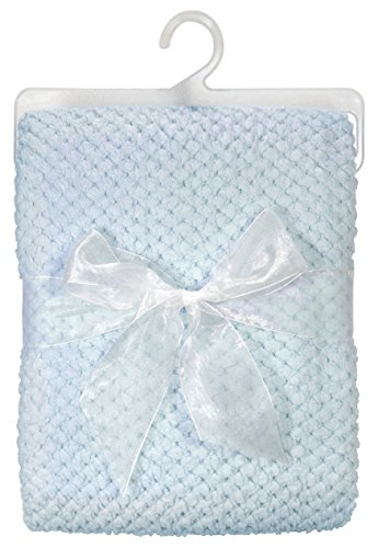 Stephan Baby Ultra Soft Popcorn Fleece Blanket, Blue