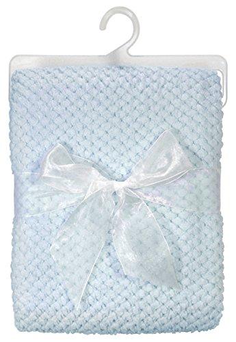 Stephan Baby Ultra Soft Popcorn Fleece Blanket, Blue