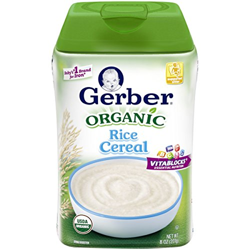 Gerber Baby Cereal Organic Rice Cereal, 6 Count (Rice Cereal Organic compare prices)