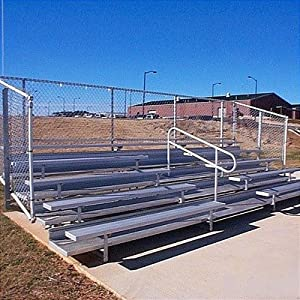 5 Row Angle Frame Bleachers With Aisle Length 15 Feet 40 Seats by All Star Bleachers
