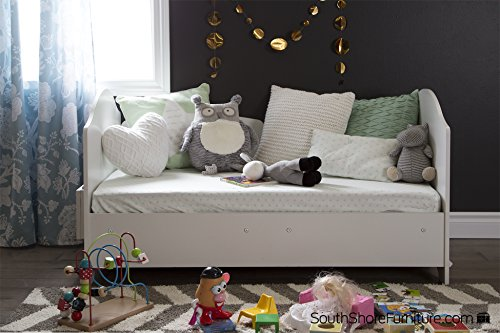 South Shore Savannah Toddler Bed Pure White Furniture Baby Furniture Cribs Beds