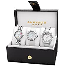 buy Akribos Xxiv Women'S Ak887Ss Quartz Movement Analog Display Watch Set