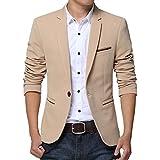 Pishon Men's Slim Fit Suits Casual One Button Flap Pockets Solid Blazer...