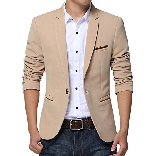Pishon-Mens-Slim-Fit-Suits-Casual-One-Button-Flap-Pockets-Solid-Blazer-Jacket