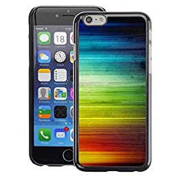 A-type Colorful Printed Hard Protective Back Case Cover Shell Skin for Apple (4.7 inches!!!) iPhone 6 / 6S ( Rainbow Stripes Colorful Waves Lgbt Rights)