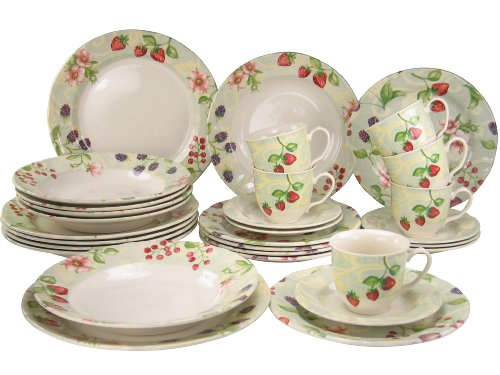 Creatable Dinnerware Set, Rococo Fruit, 30 Piece