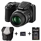 Nikon Coolpix L820 - Black + Case + 16GB Memory Card + Battery and Charger (16 MP, 30x Optical Zoom) 3 inch LCD