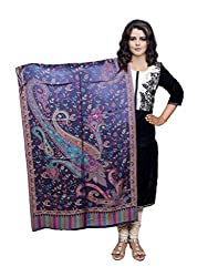 Indiweaves Fashion Women Purple Viscose Shawl