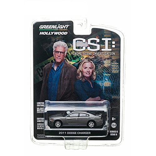 2011 DODGE CHARGER from the television show CSI: CRIME SCENE INVESTIGATION Greenlight Collectibles 1:64 Scale * Hollywood Series 6 * Die Cast Vehicle