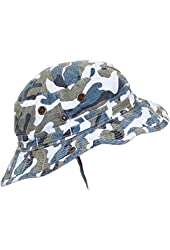 MG Camouflage Ripstop Floppy/Bucket Summer Hat W/Snap Up Sides & Chin Strap