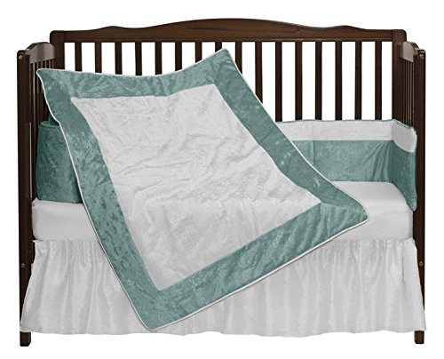 Baby Doll Crocodile II Crib Bedding Set, Blue