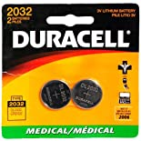 Duracell Medical Batteries, 3V Lithium, Type 2032, 2 ct.